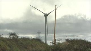 Wind turbines at Fullabrook Down
