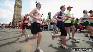 Runners in the 2010 London Marathon