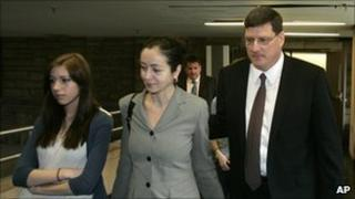 Scott Ritter with his family walking into the Pennsylvania courtroom