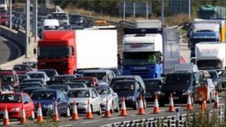 Vehicles on the motorway