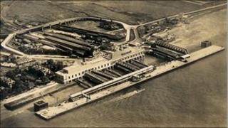 Tilbury Docks' passenger landing stage that was built in the 1930s