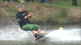 Water skiing at Holme Pierrepont