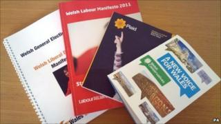 Four main Welsh party manifestos