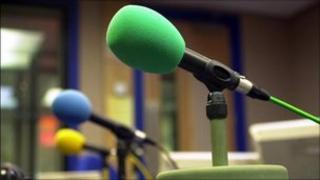 radio studio microphones