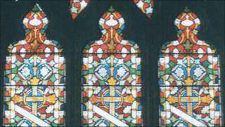 Window at St Martin's Church, Jersey