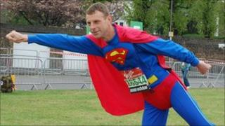 Superman aka David Stone, from Exmouth, in Devon