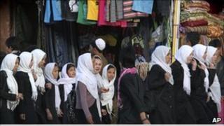 Afghan school girls - 2011