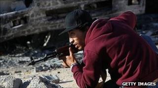 Rebel fighter in Misrata. 18 April 2011