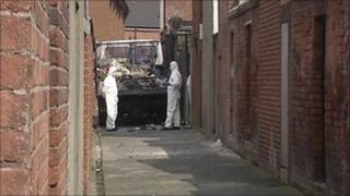 The suspected remains were found at a vacant house in Donegall Avenue
