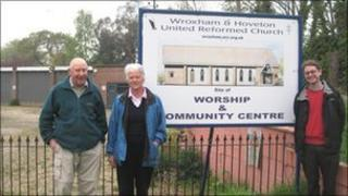 Planned site of the new Wroxham and Hoveton United Reform Church
