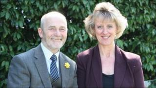 Northumbria Police Authority chairman Mick Henry and Sue Sim