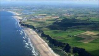 Benone and Downhill Strand pictured by Gordon Dunn