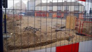 Works on Redcar seafront