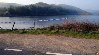 Police cordon at scene of crash on Thursday