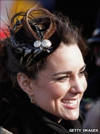 Kate Middleton wearing a fascinator