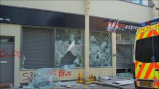 Damaged Tesco store