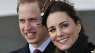 Prince William and Kate Middleton at a naming ceremony for the RNLI's new lifeboat at Anglesey earlier this year