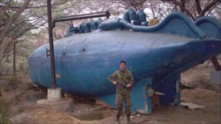 Submarine, seized by Colombian forces