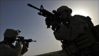 US marines in Helmand province on April 25, 2011