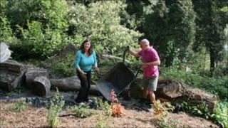 Volunteers at Coalbrookdale Arboretum