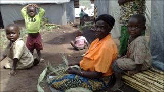 Displaced people in Bukiringi camp