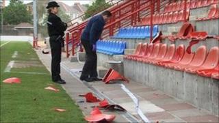 Springfield stadium vandalism