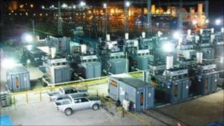 temporary power plant