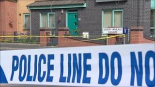 Scene of incident in Moss Side