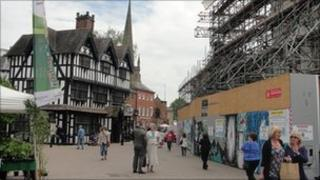 Hereford High Town fire site