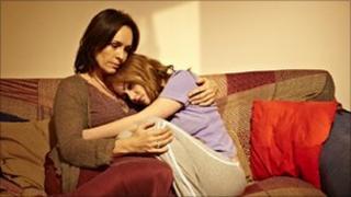 Juliet Aubrey as Maire Alderton and Jaime Winstone as Anneli Alderton in Five Daughters