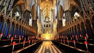 The inside of Westminster Abbey