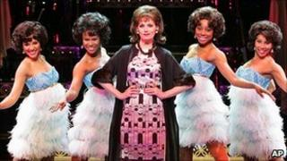Beth Leavel (centre) with other cast members from Baby, It's You!
