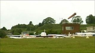 Old Sarum airfield - library picture