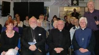 Joe Wilson with the Easter lecture congregation