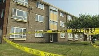 Police tape in Allenton