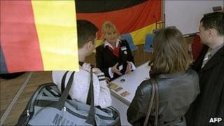 German employment fair in Wroclaw, Poland