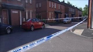 Scene of shooting in Dulwich Road in Nottingham