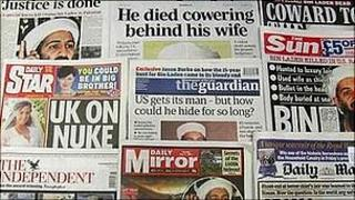 Front pages of papers on 3 May 2011