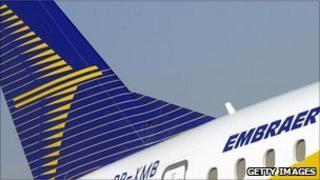 An Embraer 190 jet