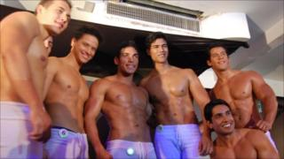 Contestants at the heat of Young Mr Venezuela