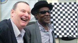 2-Tone director Pete Chambers with Neville Staple