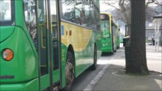Buses at St Peter Port's terminus