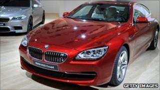 The BMW 650i coupe is displayed at the Shanghai Auto Show in Shanghai on April 19, 2011