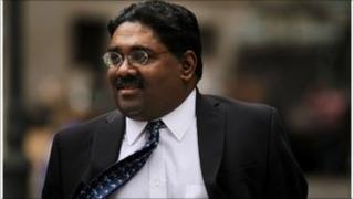 Billionaire Galleon Group hedge fund cofounder Raj Rajaratnam enters a Manhattan Federal Court during his trial for insider trading