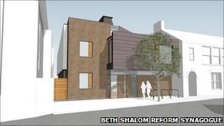 Artist's impression of Beth Shalom Reform Synagogue