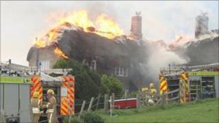 Thatch fire, East Bexington