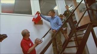 Sir Ranulph Fiennes opens Exmoor Search and Rescue Team's new centre
