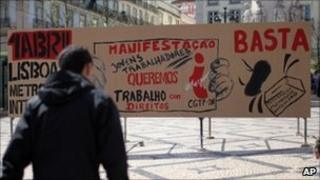 Protesters in Portugal