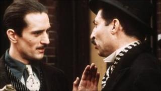 Robert De Niro with Leopoldo Trieste in The Godfather Part II
