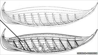 Illustration of Viking boat. Pic: Crumlin-Pederson